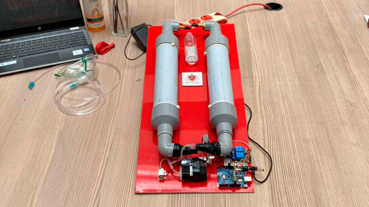 Low Cost Portable Oxygen Concentrator Design by Providence College of Engineering, Chengannur